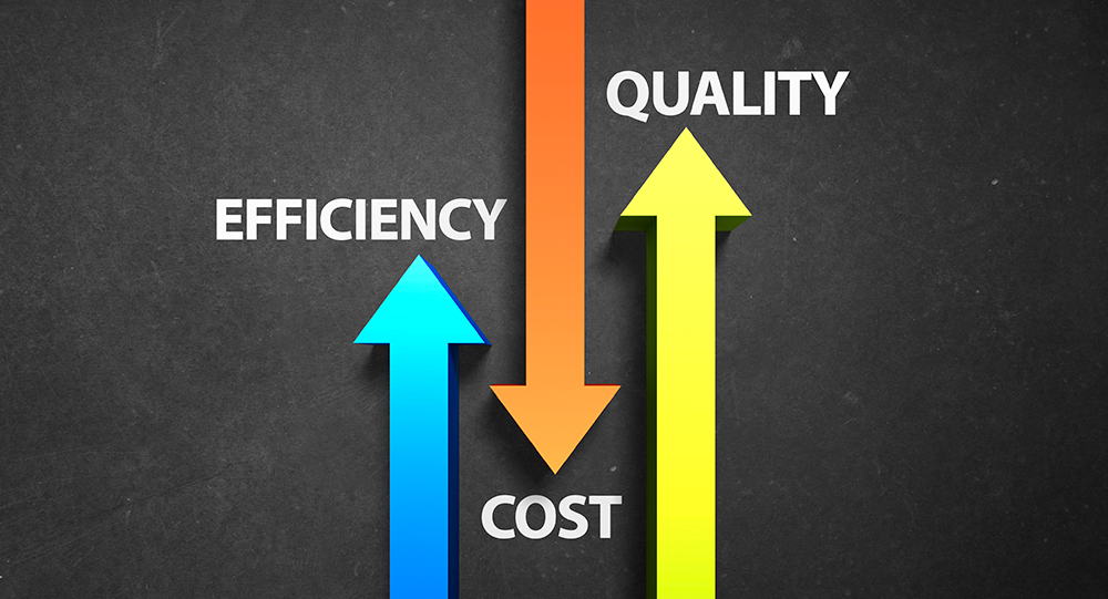 Increase in efficiency - Increase in quality - Decrease in cost